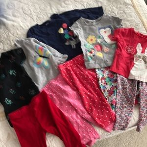 CARTERS 10 pieces! 5 outfits! 12M